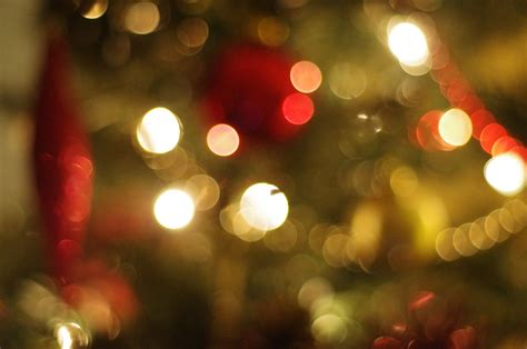 blurred christmas tree decorations photograph 1411832