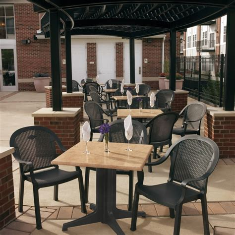 Restaurant Patio Furniture by Commercial Outdoor Plastic Resin Restaurant Chairs Bar