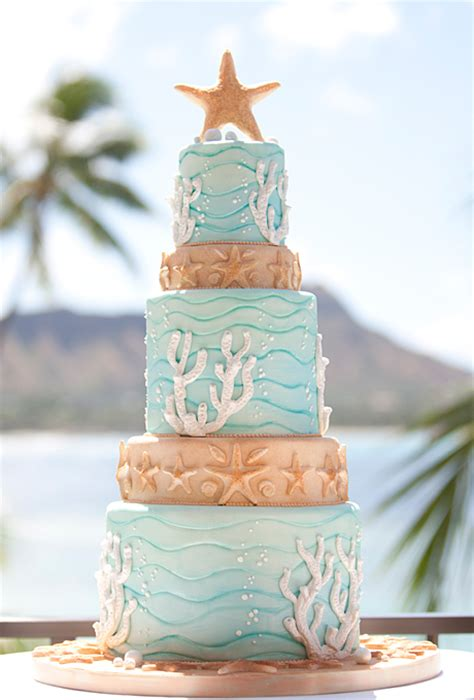 beach wedding cakes  wedding cake blog