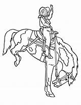 Cowgirl Coloring Pages Rodeo Doing Lovers Cartoon sketch template