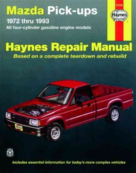 online auto repair manual 1993 mazda b series seat position control mazda pick ups 1972 1993 haynes service repair manual sagin workshop car manuals repair books
