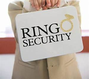 Ring security box ring bearer alternative complete for Ring security box for wedding