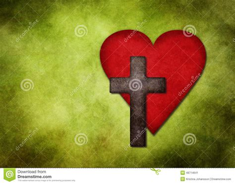Cross And Heart Stock Illustration. Illustration Of Savior