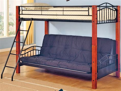 Full Size Loft Bed With Futon Underneath