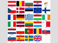 All flags of the European Union ~ Icons ~ Creative Market