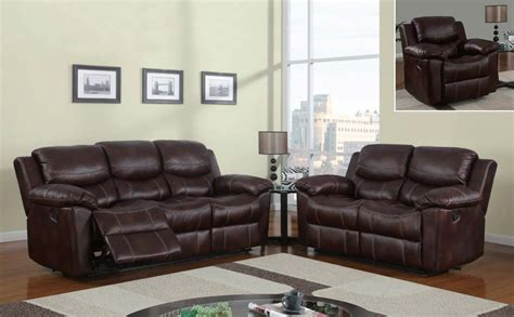 Reclining Microfiber Sofa And Loveseat Set by Global Furniture Usa 2128 Reclining Sofa Set Printed
