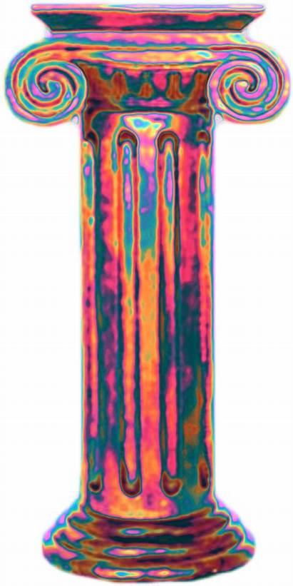 Aesthetic Greek Vaporwave Roman Column Holographic Clipart