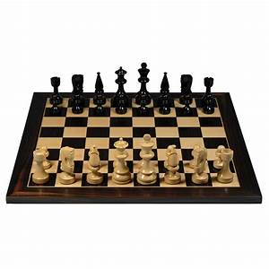 Russian Style Chess Set  U2013 Weighted Pieces  U0026 Black Stained