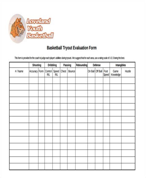 basketball evaluation form   documents  word