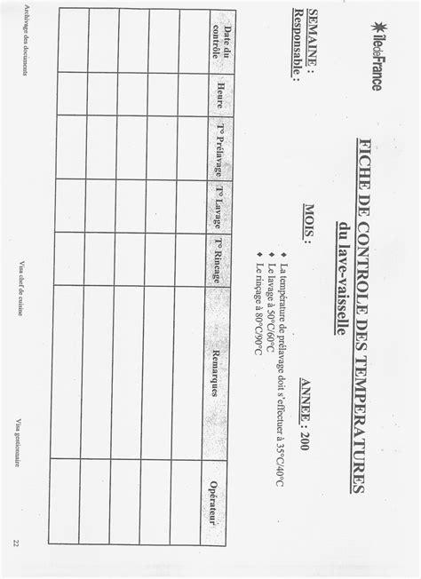 fiches cuisine les fiches d enregistrement pour le haccp cuisines