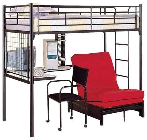 Bunk Beds With Couches Underneath by Coaster Youth Futon Bunk Bed In Black 2209