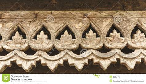 carved wooden lattice work  thai style pattern art