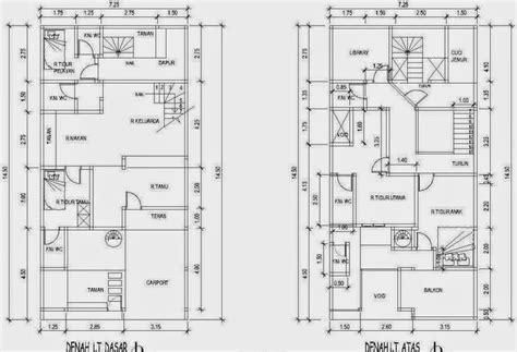 contoh denah rumah  kamar  nyaman arsitek indo