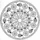 Mandala Square Coloring Getdrawings sketch template