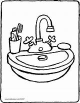 Washbasin Drawing Basin Colouring Wash Kiddicolour Furniture Email Kleurprenten Clipartmag Recipient 01v sketch template