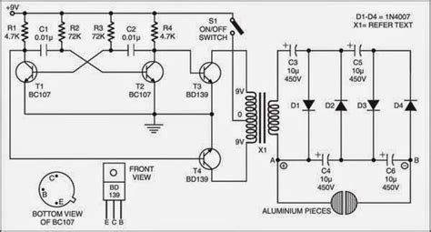 simple electric shock gun circuit diagram check