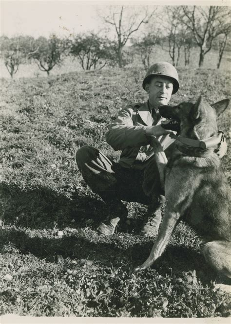 "War dog ""Rex"" and his handler, T/5 Amos Shaeffer, in ..."