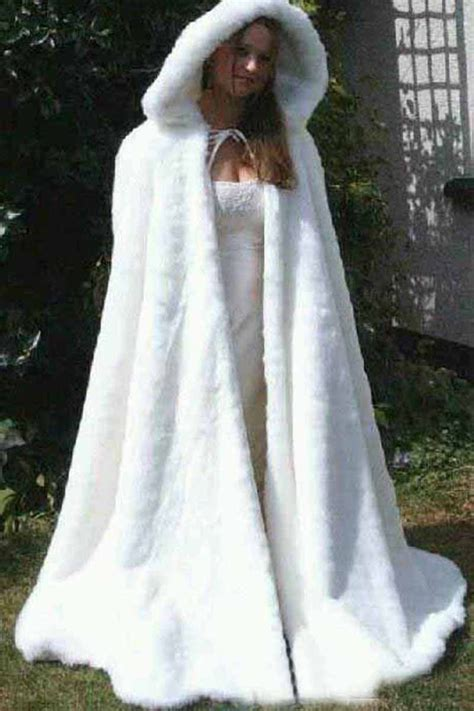 cheap bridal cape ivory stunning wedding cloaks hooded