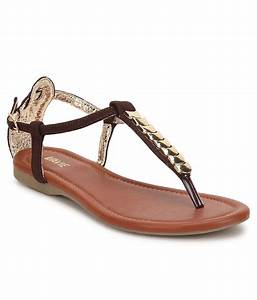 Lavie Brown Flat Sandals at snapdeal