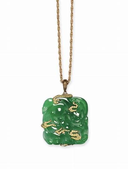 Jewelry Jade Wallace Chan Diamond Jadeite Plaque