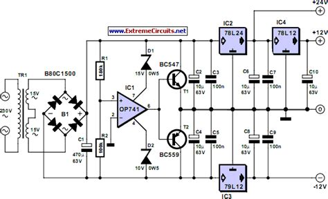 triple power supply  repository circuits