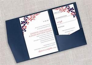Diy pocket wedding invitation template set instant for Diy wedding invitations with pockets