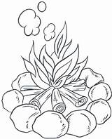 Coloring Lantern Camping Fire Camp Flower Drawing sketch template