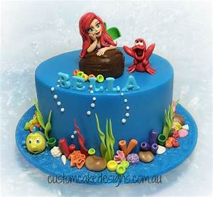 Ariel Little Mermaid Cake - CakeCentral com