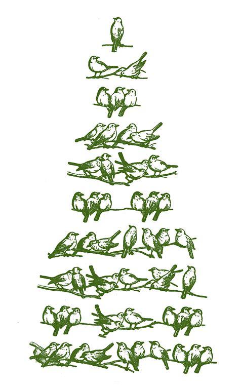 vintage christmas clip art bird tree  graphics fairy