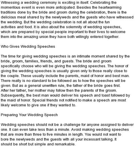 kind   wedding speeches samples grooms parents