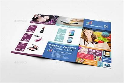 Brochure Supermarket Fold Tri Template Bundle Trifold