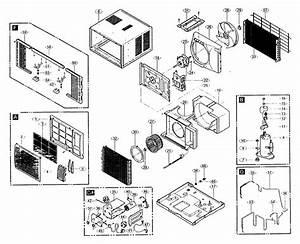 Goldstar R8000 Room Air Conditioner Parts