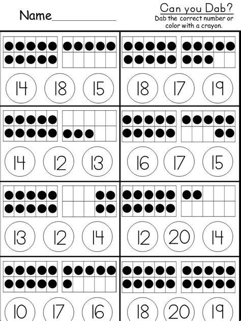 tens   worksheet kindergarten math