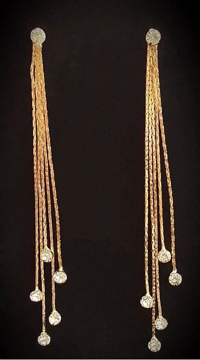 Earrings Type Gold Drop Face Tassel Improve