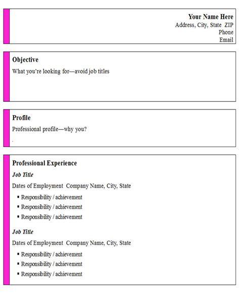 informal resume free cv exle