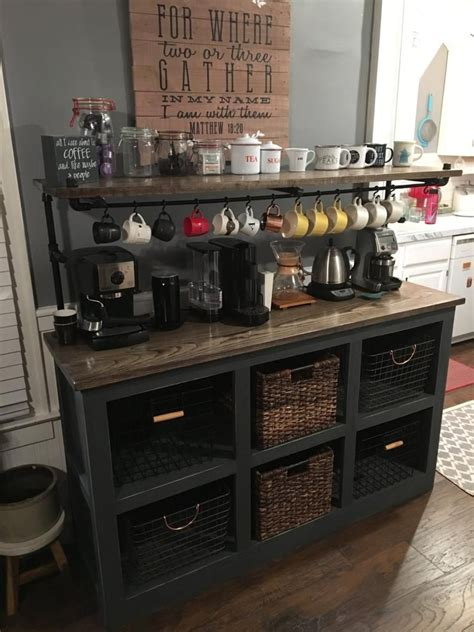 Coffee table style economicals and simple making a small coffee corner will certainly assist you embellish your home. Eddie 3 Coffee Bar in 2020 | Coffee bar home, Kitchen remodel small, Coffee bars in kitchen