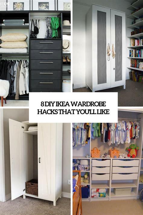 Diy Wardrobe by 8 Diy Ikea Wardrobe Hacks That You Ll Like Shelterness