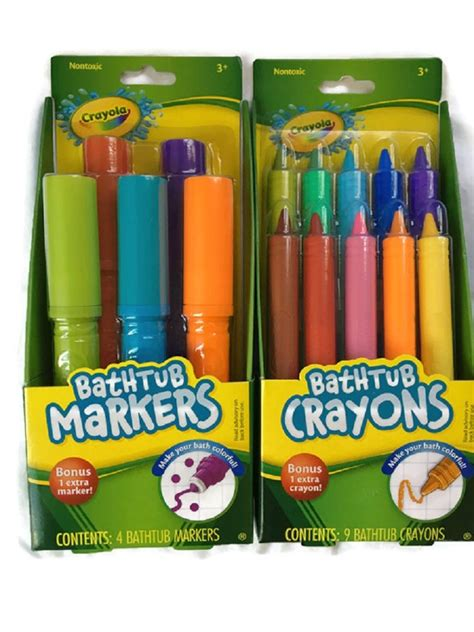 crayola bathtub crayons refill crayola bathtub markers with 1 bonus markers and