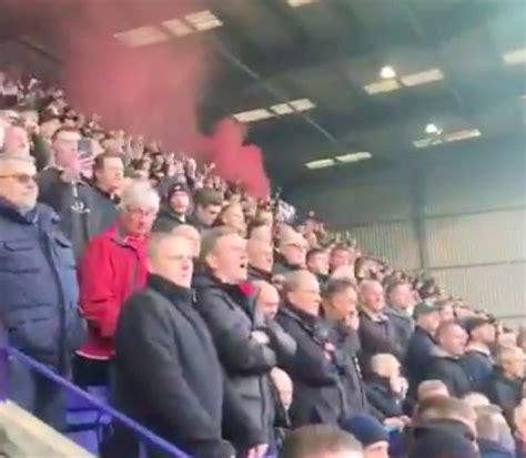 video man utd fans vociferous  anti glazers chants