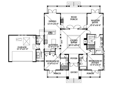 Southern Floor Plans by Plantation Style House Floor Plan Southern Style Homes