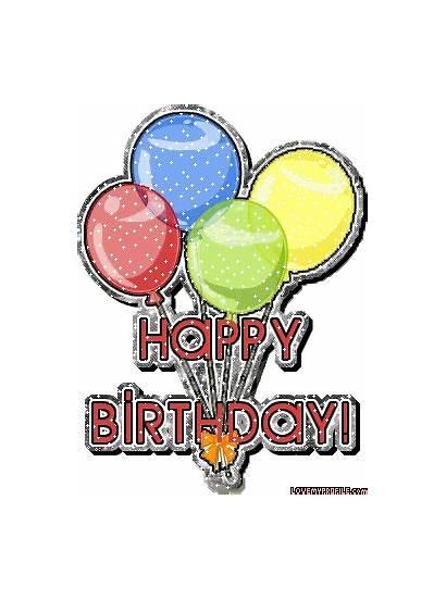 Birthday Happy Balloons Wonderful Animated Party Transparent