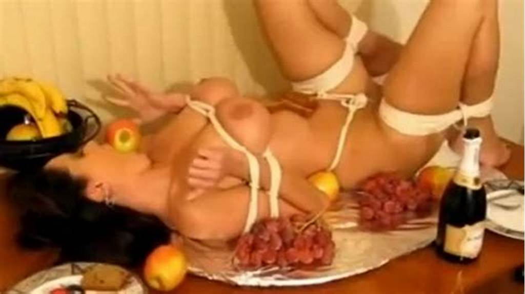 #Girl #Tied #Like #Turkey #And #Ball #Gagged #On #Table #Cc