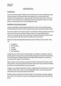 leadership essay example dissertation structure sample leadership