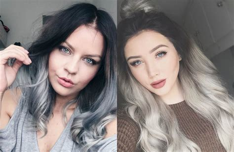 Magnifying Ombre Grey Hair Colors Pretty
