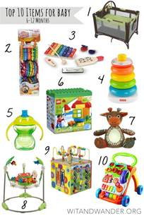 top 10 must haves for babies 6 12 month old wit wander