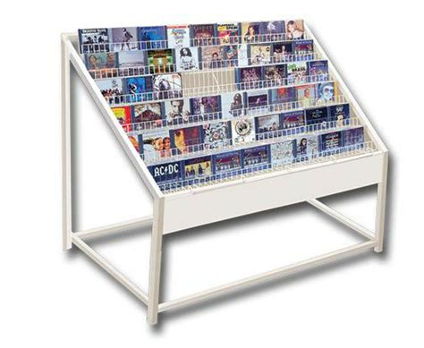 Cd/dvd Browser Storage Unit System Display Rack White New
