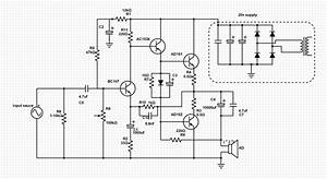 simple ge class a b diy amplifier audio hardware With diy power supply