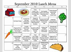 School Lunch Menu Breakfast Snack Pictures to Pin on