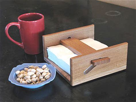 wood napkin holder plans   plans