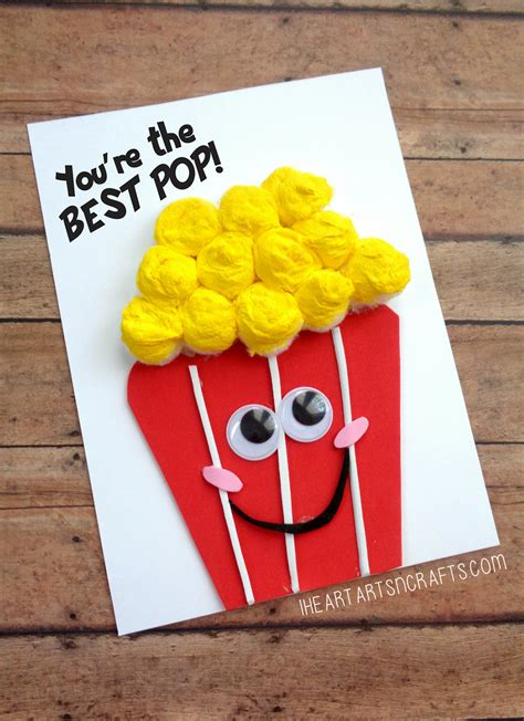 fathers day youre   pop popcorn card father
